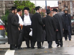 Ultra-Orthodox Jews in Stamford Hills, London